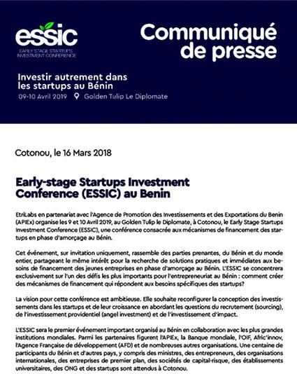 Communiquée de Presse ESSIC Français